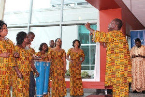 Members of the Ghanaian Choir sing in celebration of Black History Month,