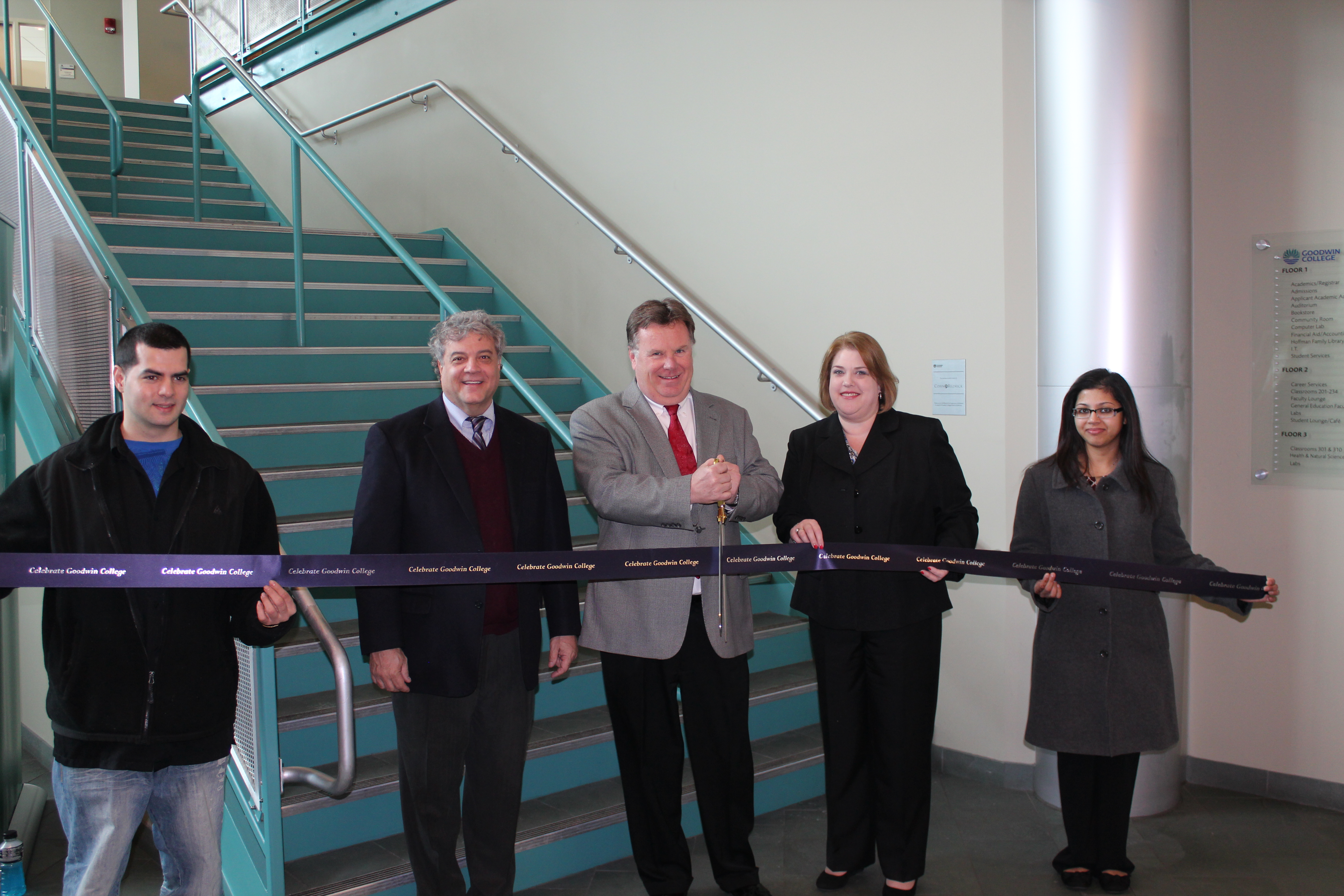Goodwin Dedicates Lobby Staircase to CohnReznick LLP