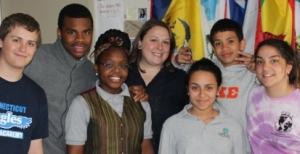 Lindsay Smolka (center) with some of her CTRA students