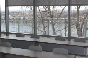 Many of the classrooms in the school feature great views of the Connecticut River.