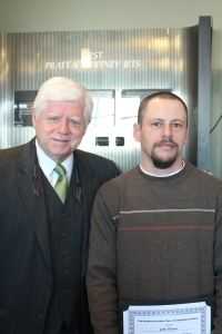 Congressman John Larson and John Winder of Alpha Q, one of the first students to be credentialed through MSSC.